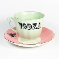 xícara vodca cute porcelana